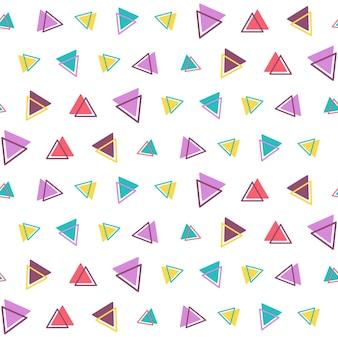 Geometryczny wzór z trójkątami na białym tle