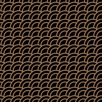 Geometryczny wzór ze stylizowanymi falami