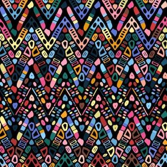 Geometryczny wzór zygzaka ikat. plemienny motyw etniczny