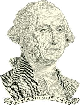 George washington wygrawerował portret