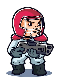 Germ terminator mascot design