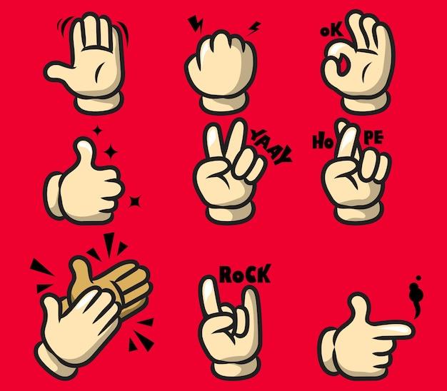 Gest komiksu kreskówka ręka