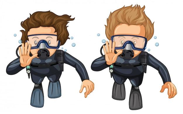Gest ręki do nurkowania