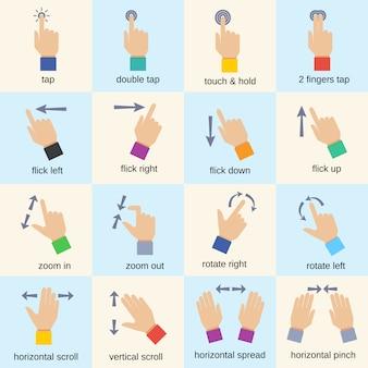 Gesty interfejsu dotykowego