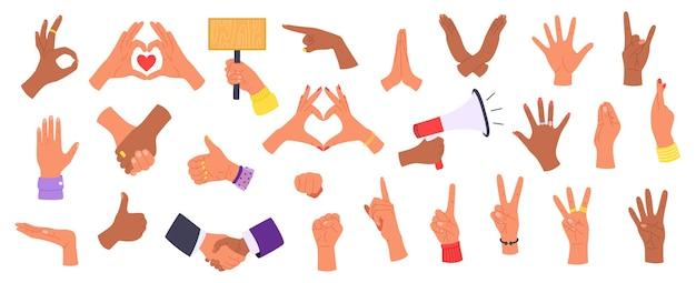 Gesty ludzkich rąk w różnych interpretacjach