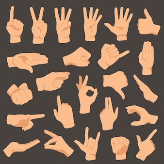 Gesty rąk.
