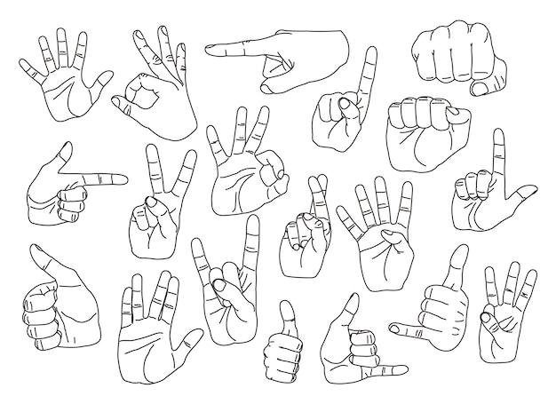 Gesty ręczne ustawione