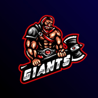 Giant morderca wojownik logo maskotka esport gaming