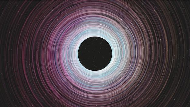 Giant spiral black hole na galaxy background.planet i projekt koncepcyjny fizyki, ilustracji wektorowych.