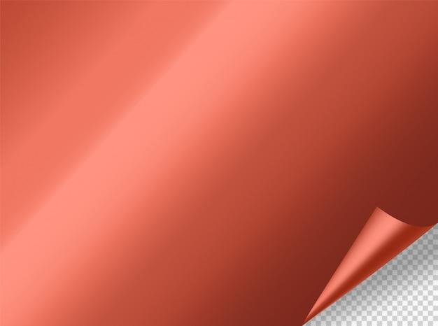 Gięcie makieta wektor metalu. obiekt wektorowy na przezroczystym tle