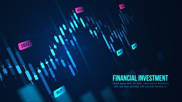 Giełda lub wykres handlu forex w koncepcji graficznej