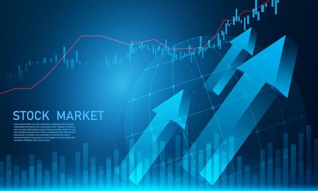 Giełda, wykres gospodarczy z diagramami, koncepcje biznesowe i finansowe oraz raporty, abstrakcyjne tło koncepcja komunikacji technologii