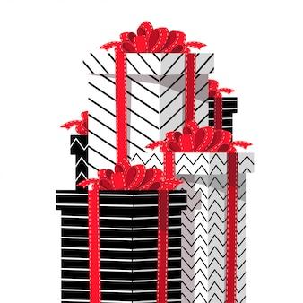 Gift boxes.isolated ilustracji wektorowych.