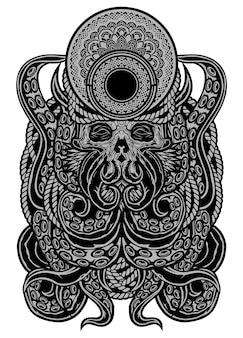 Gigantyczna ośmiornica ilustracja