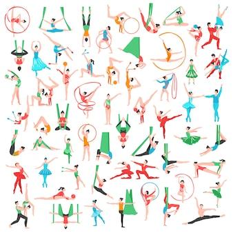 Gimnastyka i duży zestaw baletowy