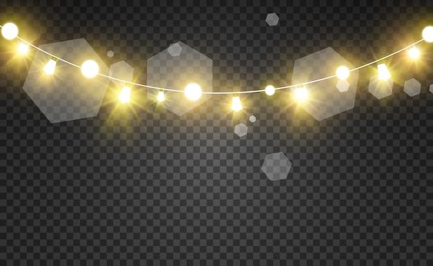 Girlanda ze świecącymi światłami