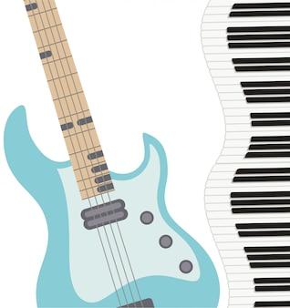 Gitara elektryczna wzór instrumentu muzycznego