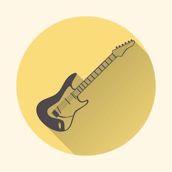 Gitara ikona ilustracja, wzór muzyki. kreatywna i luksusowa okładka