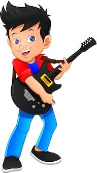 Gitarzysta chłopiec