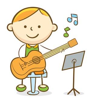 Gitarzysta dziecięcy