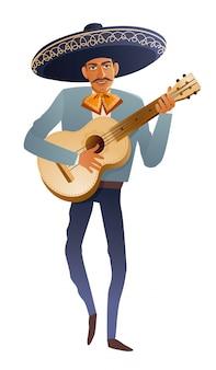 Gitarzysta muzyk zespołu mariachi.