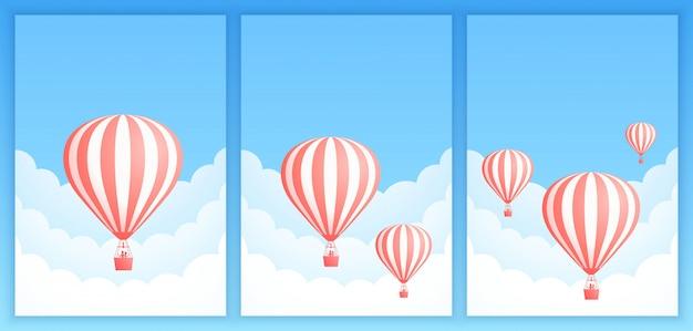 Głąb chmur balon na gorące powietrze