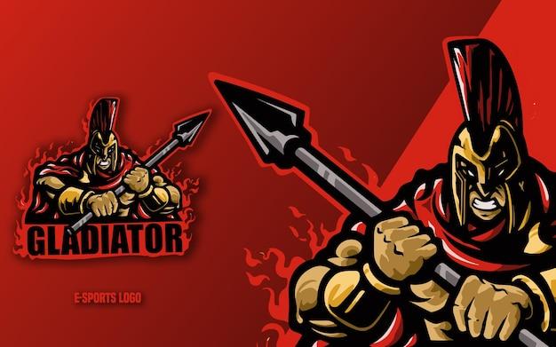 Gladiator z logo esport