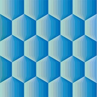 Gładki kolor gradientu sześciokąt mozaika tło