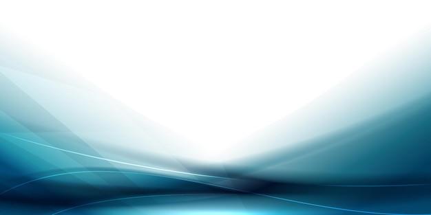 Gładkie futurystyczne niebieskie tło fali