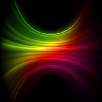 Gładkie linie światła w technologii. plik w zestawie