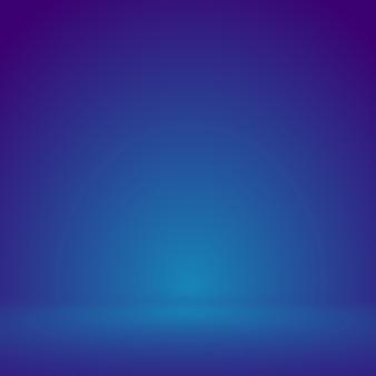Gładkie niebieskie z fioletowym studio winiet dobrze wykorzystać jako tło