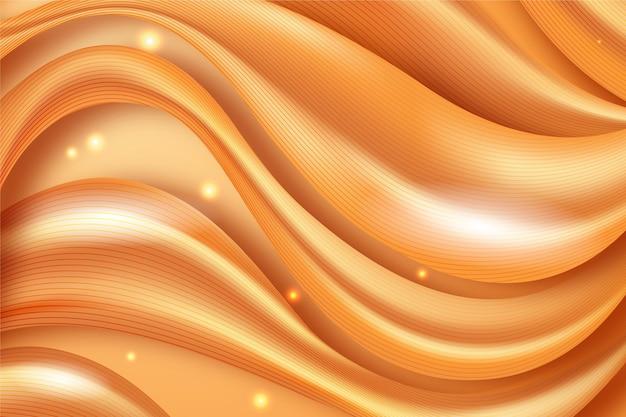 Gładkie złote tło fala