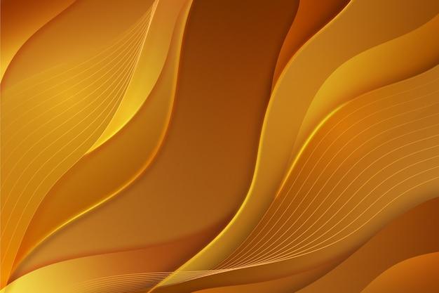 Gładkie złote tło fali