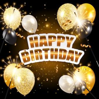Glansowana wszystkiego najlepszego z okazji urodzin szybko się zwiększać tło wektoru ilustrację