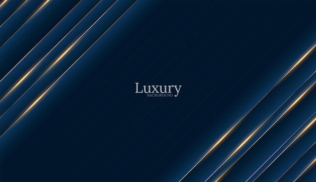 Głębokie niebieskie tło luksusowe złoto
