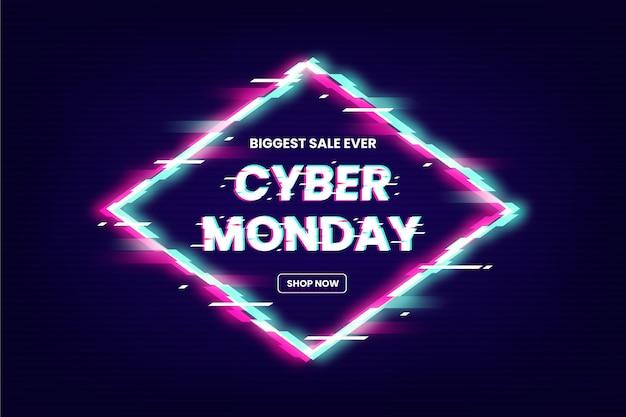 Glitch cyber poniedziałek sprzedaż tekst promocyjny