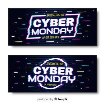 Glitch cyber poniedziałki banery