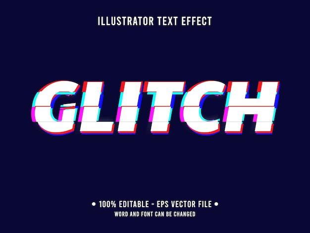 Glitch edytowalny efekt tekstowy w nowoczesnym stylu