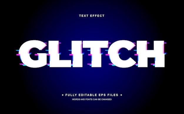 Glitch edytowalny efekt tekstowy