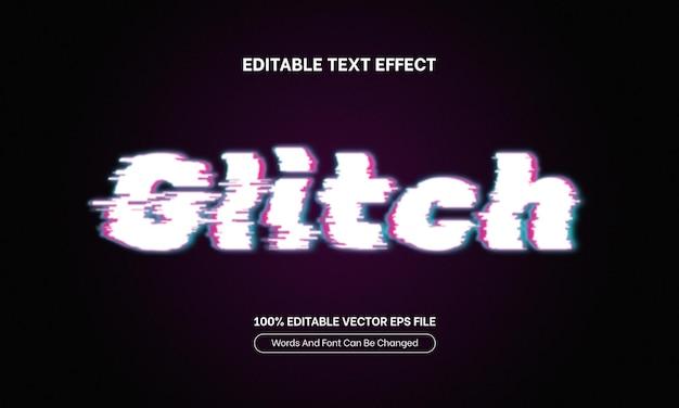 Glitch efekt tekstowy edytowalny tekst krój pisma futurystyczna typografia