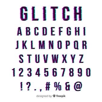Glitch typografia