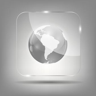 Glob ikona ilustracja wektorowa