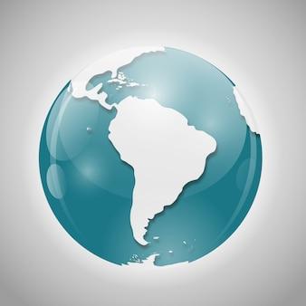 Glob ilustracji wektorowych
