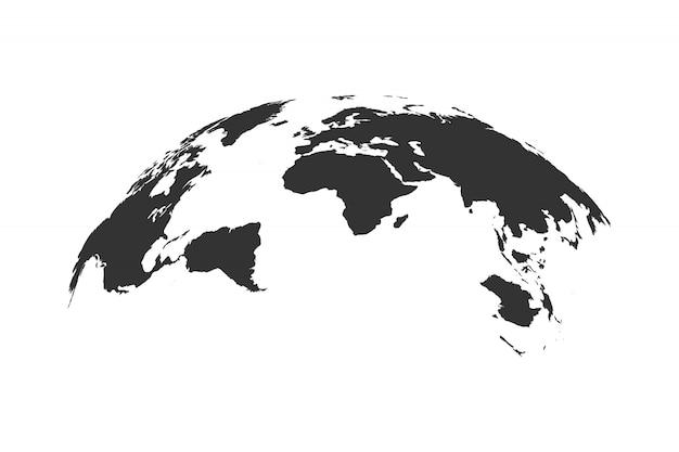 Glob mapa świata na białym tle