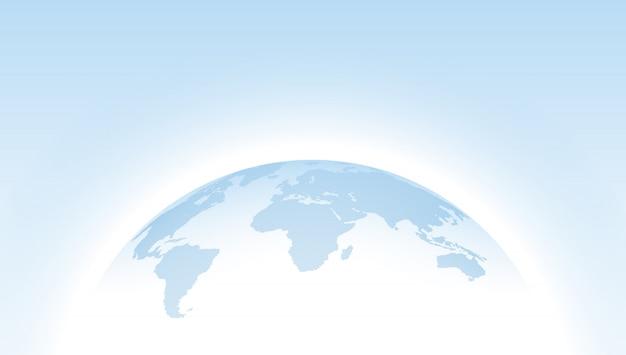 Glob wektor przerywana niebieska mapa