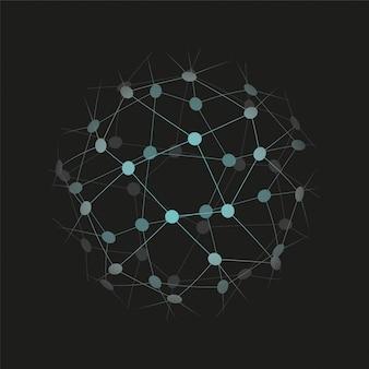 Globalna ikona technologii lub sieci społecznościowej. ilustracji wektorowych