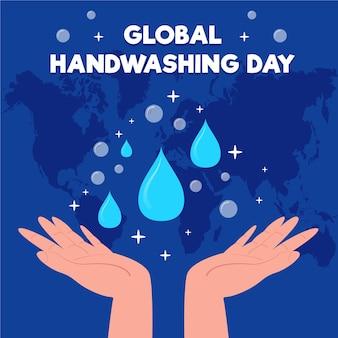 Globalna koncepcja dnia mycia rąk
