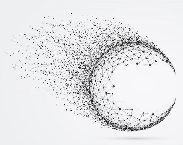 Globalna sfera siatki z cząstkami.