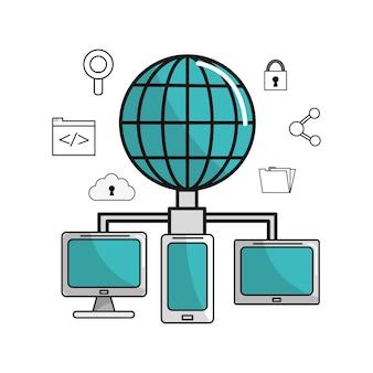 Globalne komputery łączą informacje o danych