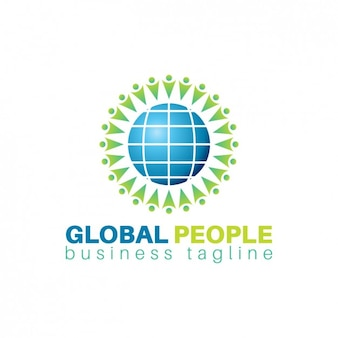 Globalne ludzie logo template
